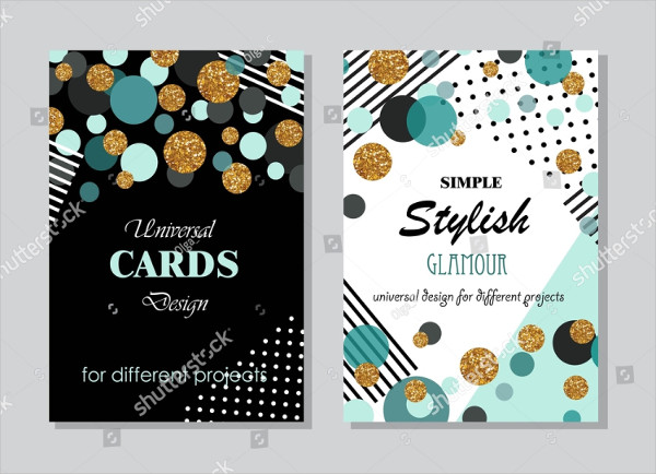 Collection of Universal Modern Stylish Cards Templates
