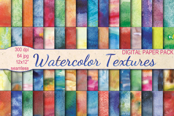 Colorful Watercolor Textures Seamless
