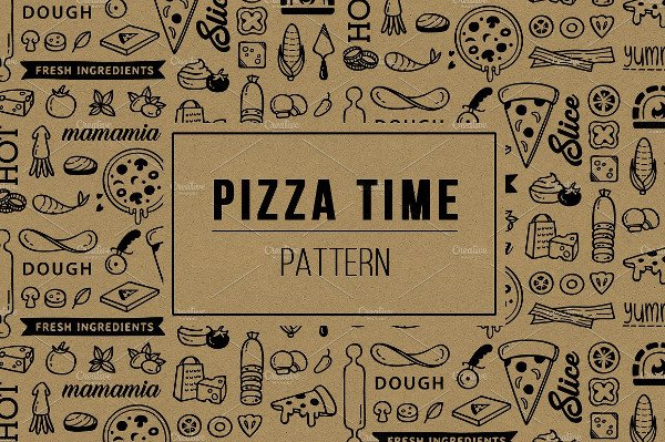 Cool Pizza Time Pattern