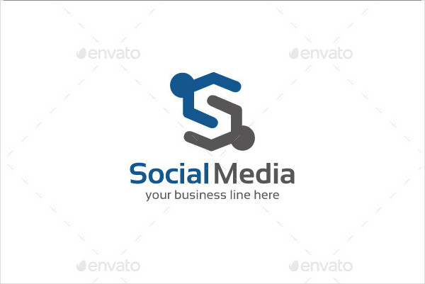 Cool Social Media Logo Template