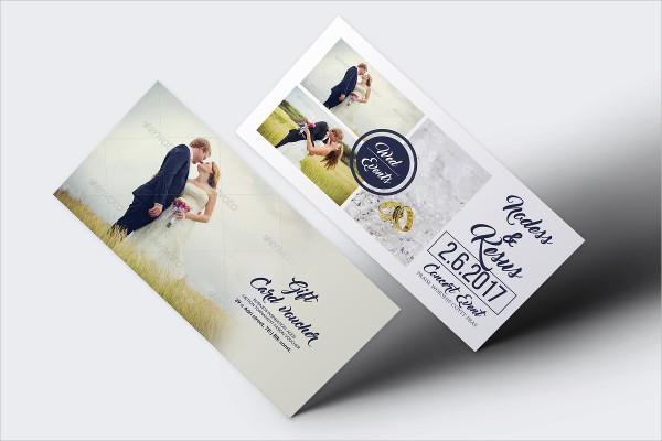 Creative Wedding Gift Voucher Template