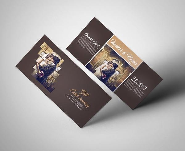 Custom Wedding Invitation Gift voucher