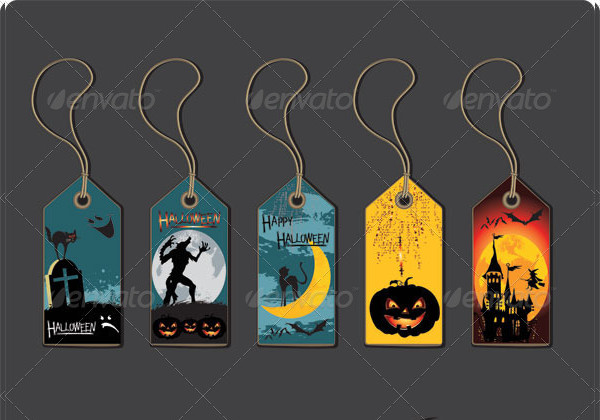 Editable Halloween Labels Template