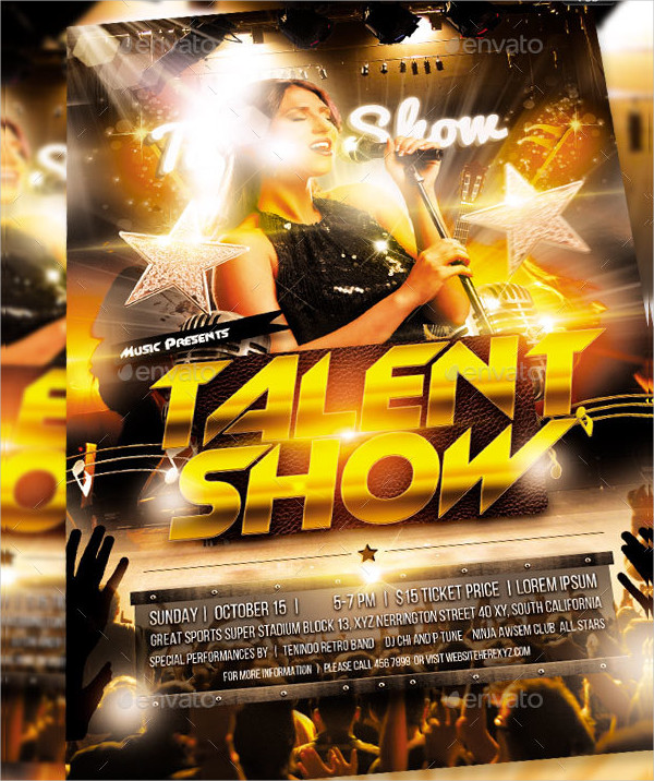 Editable Talent Show Flyer