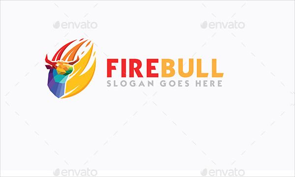 Fire Bull Logo Design