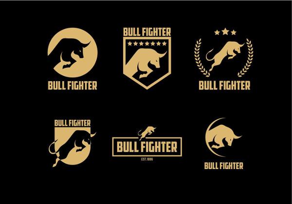 Free Bull Fighter Gold Logo