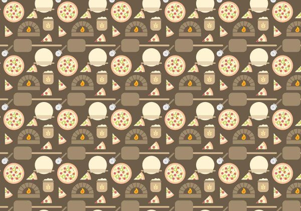 Free Pizza Oven Pattern Vector