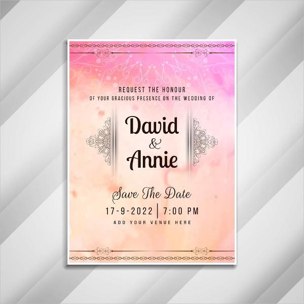Free Wedding Invitation Stylish Card Design