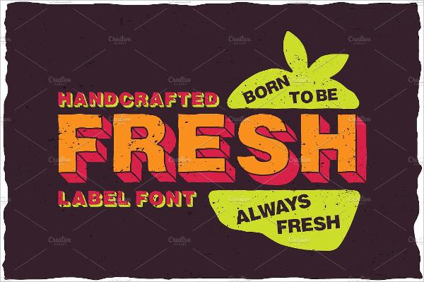 Fresh Cartoon Look Label Typeface Font