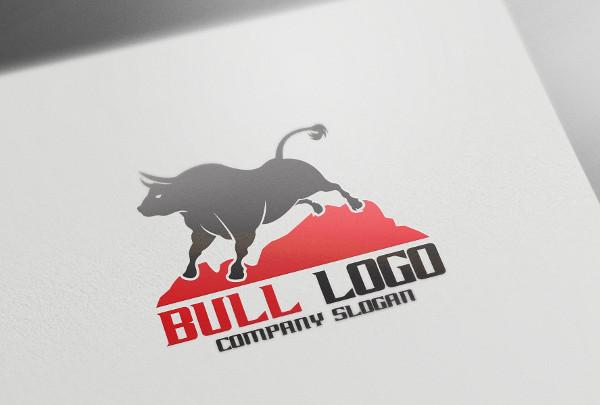 Fully Editable Bull Logo Design