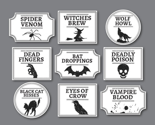Halloween Label Template Free Download