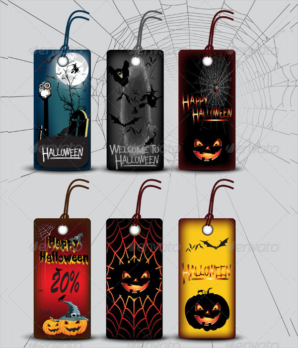 Halloween Label Template in Six Models