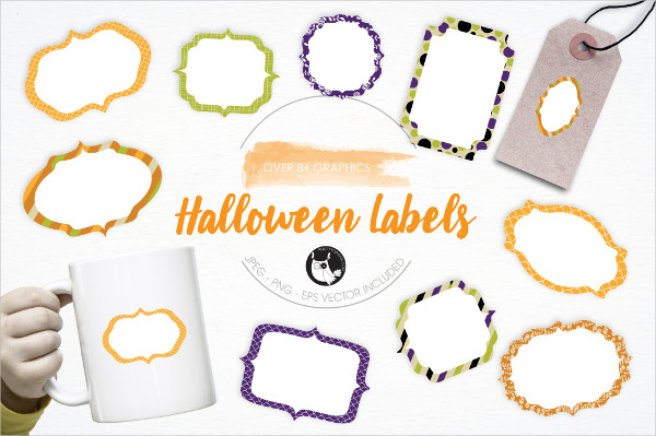 Halloween Labels Graphics and Illustrations