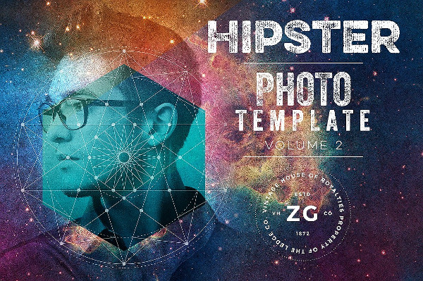 Hipster Photo Template or Mockup