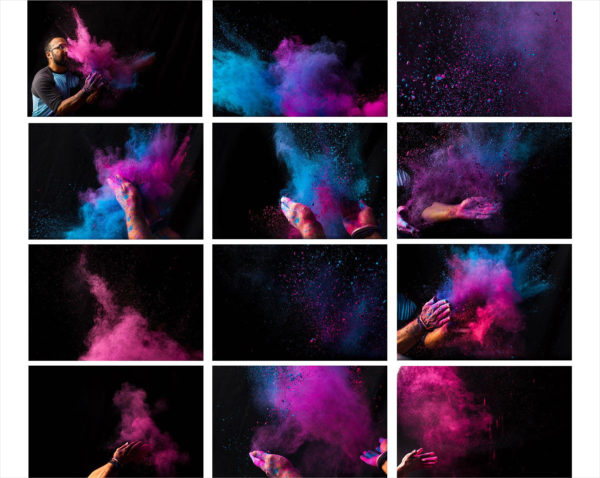 Holi Color Powder Dust Textures