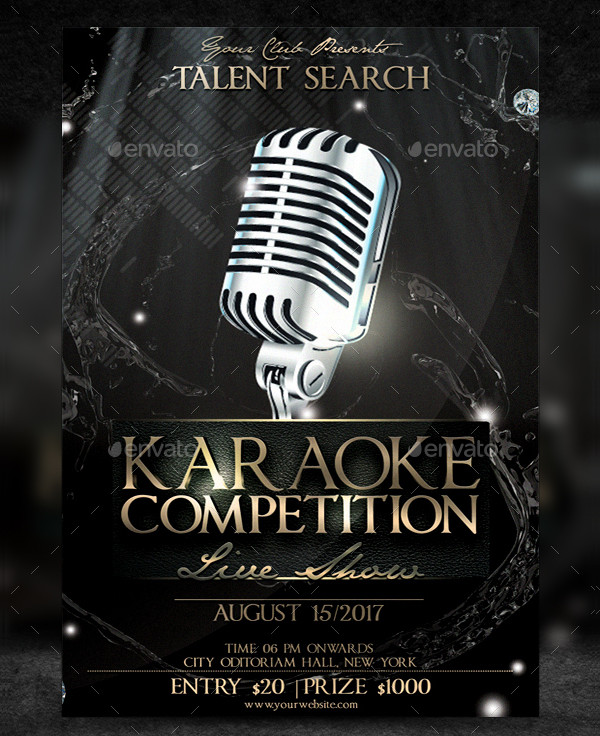 Karaoke Competition Flyer Template