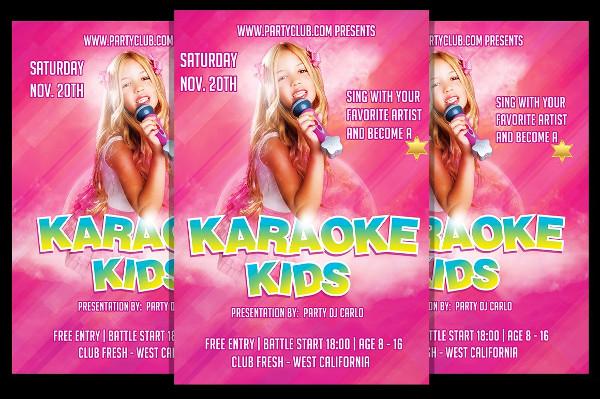 Karaoke Kids Flyer