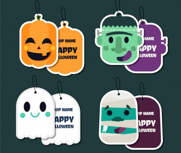 Lovely Halloween Label Collection Free