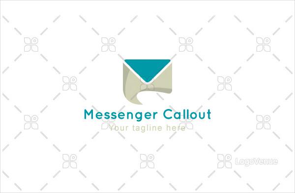 Messenger Callout Logo Template