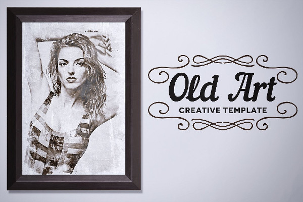 Old Art Creative Photo Template