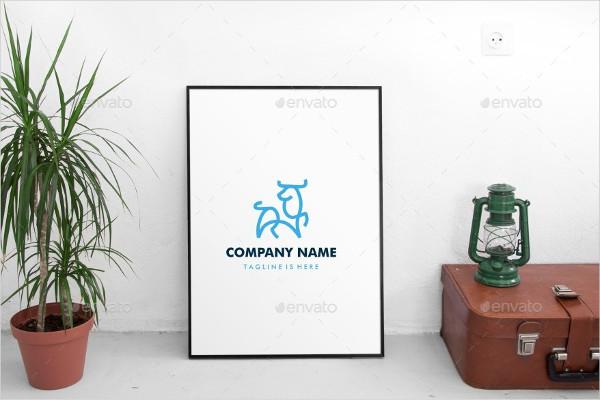 Outline Bull Logo Template