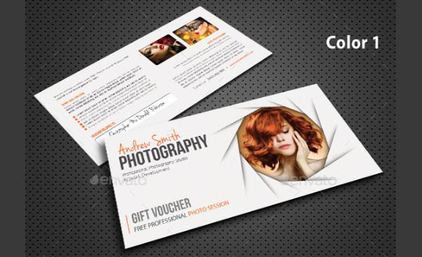 Photography Studio Gift Voucher Design