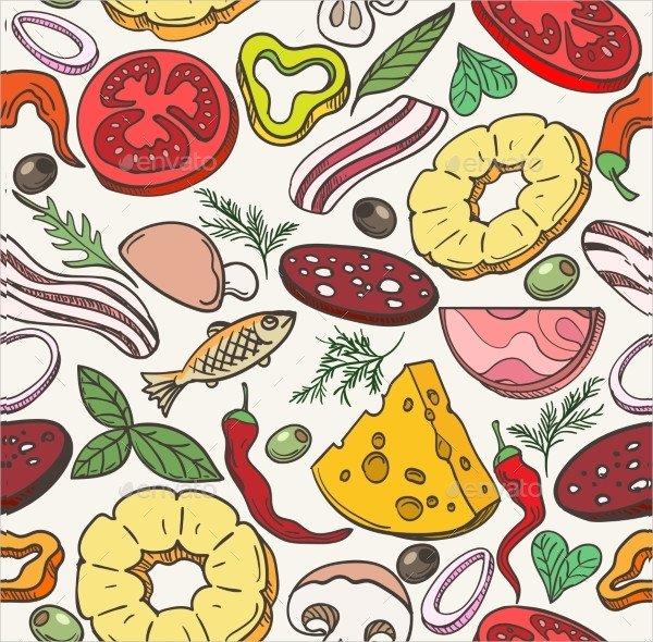 Pizza Ingredients Pattern