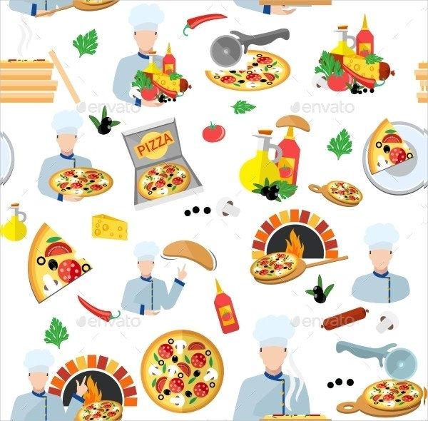 Pizza Maker Seamless Pattern