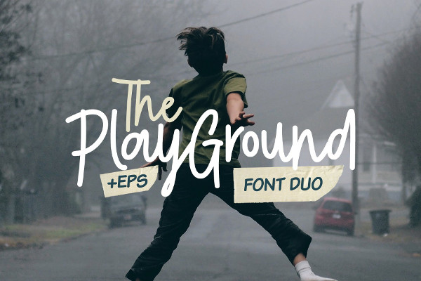 Play Ground Font Duo & Illustrations