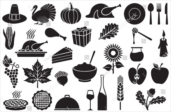Popular Thanksgiving Day Icons Set