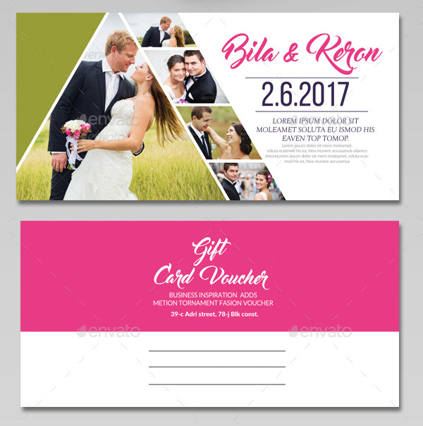 Printable Wedding Gift Voucher Template