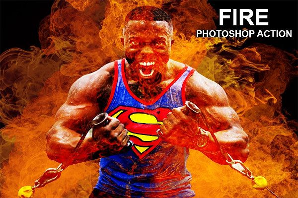 Realistic Fire Photoshop Actions