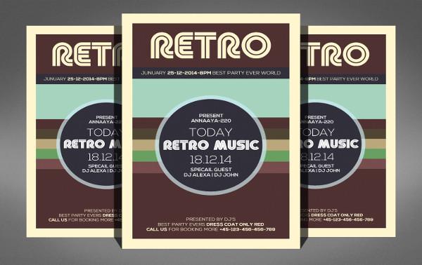 Retro Music Flyer Template