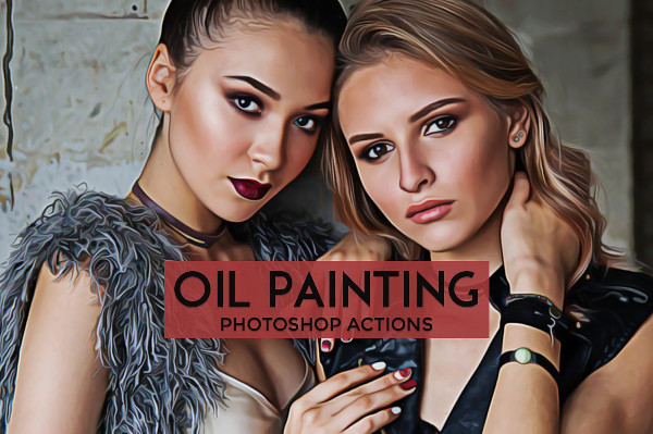 Retro Oil Painting Photoshop Actions