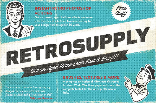 Popular Retro Photoshop Action Bundle