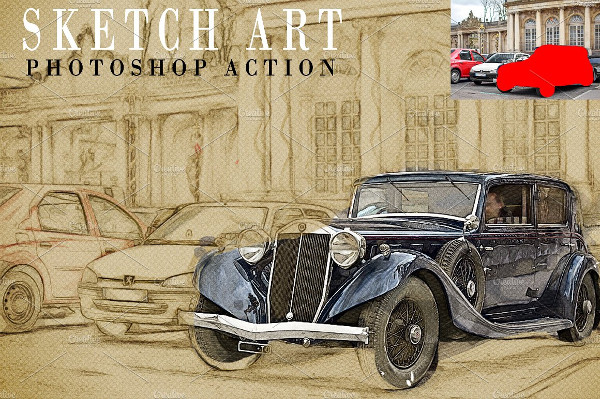 Retro Sketch Art Photoshop Action