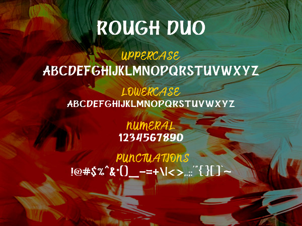 Rough Sketch Fonts Duo