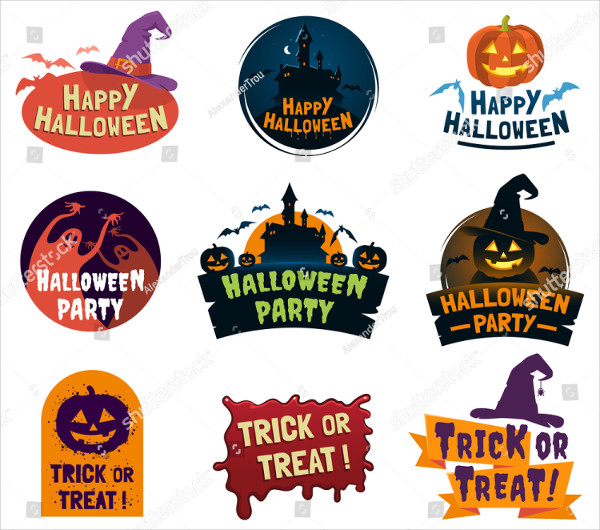 Set of Halloween Signs & Labels Design