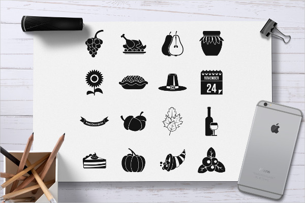 Simple Icons of Thanksgiving