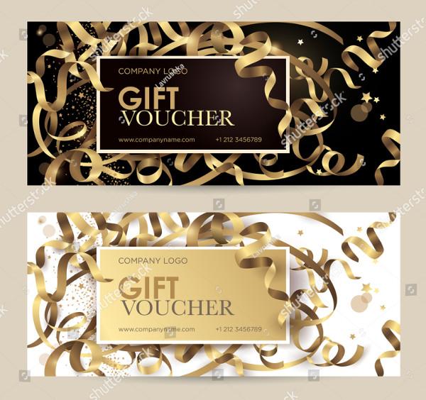 Simple Wedding Gift Voucher Design