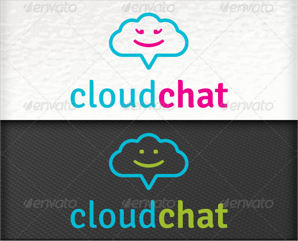 Social Media Application Chat Cloud Internet Logo