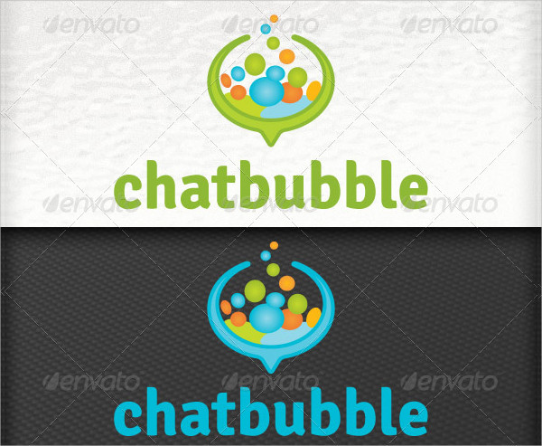 Social Media Applications Speech Bubbles Chat Logos