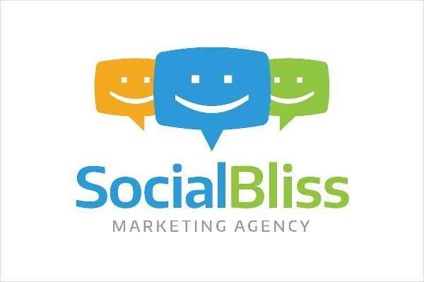 Social Media Marketing Agency Logo Template