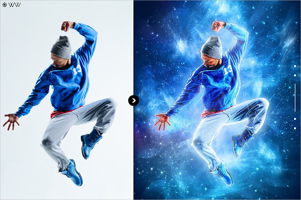 Space Photoshop Action
