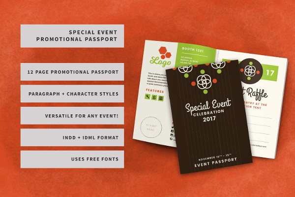 Special Event Promotional Passport