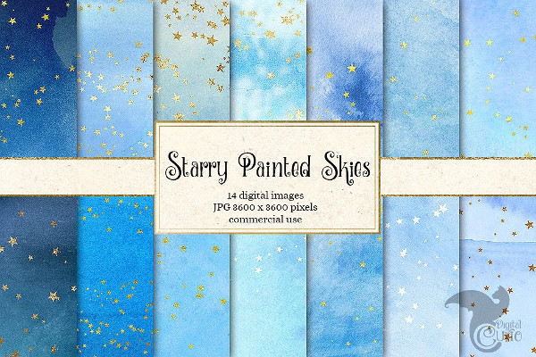 Starry Painted Skies Backgrounds