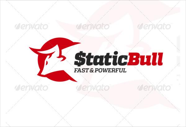 Static Bull Logo Template