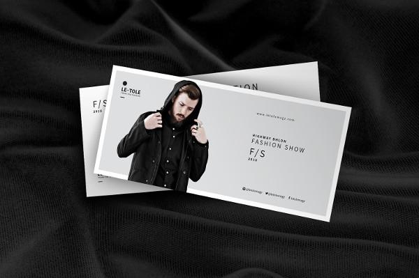 Stylish Fashion Show Invitation