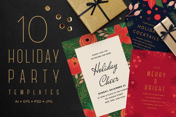 Stylish Holiday Party Templates