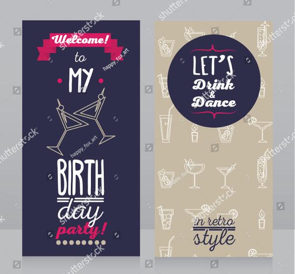 Stylish Invitation for Birthday Party